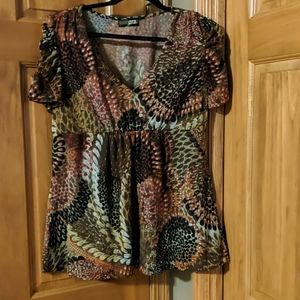 Cute Women's L J.T.B short sleeve v neck shirt